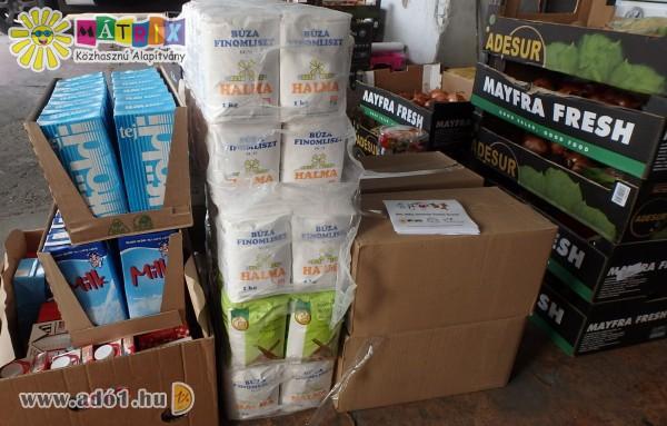 Adó 1% segítségével élelmiszerosztás a rászorulóknak